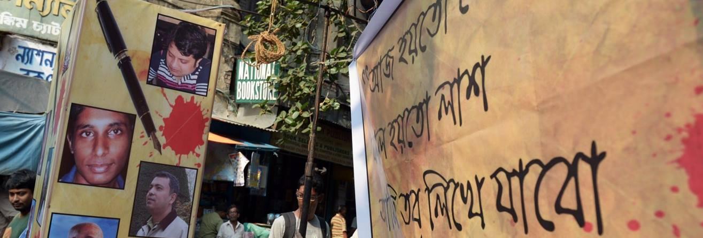 Protesto akcija prieš sekuliarių tinklaraštininkų žudymus Bangladeše, Amnesty International nuotr.