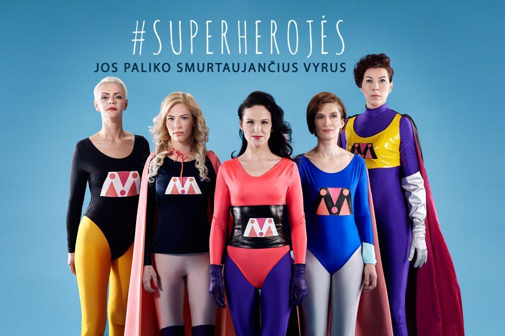 """""""Moterys kalba"""" projektas """"Superherojės"""" (Neringos Rekašiūtės nuotr.)"""