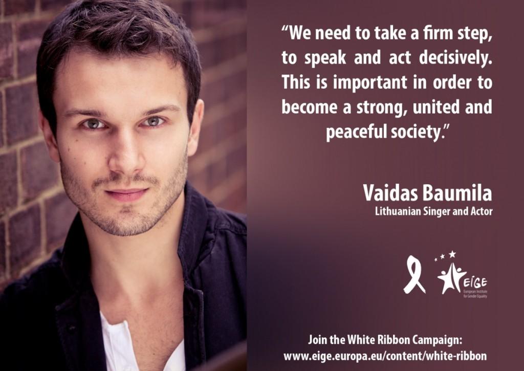 "V. Baumila - ""Baltojo kaspino"" ambasadorius. © EIGE nuotr."