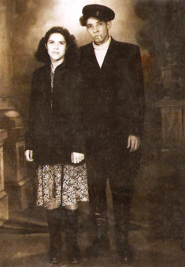 Antano brolis Aleksas su žmona