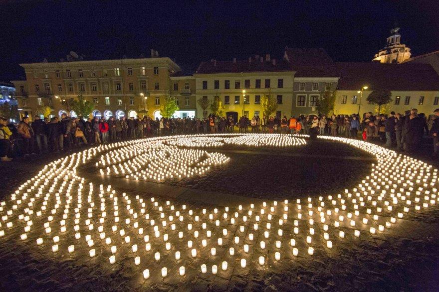 """""""Už gyvybę"""" akcija Vilniuje, 15min.lt nuotr."""