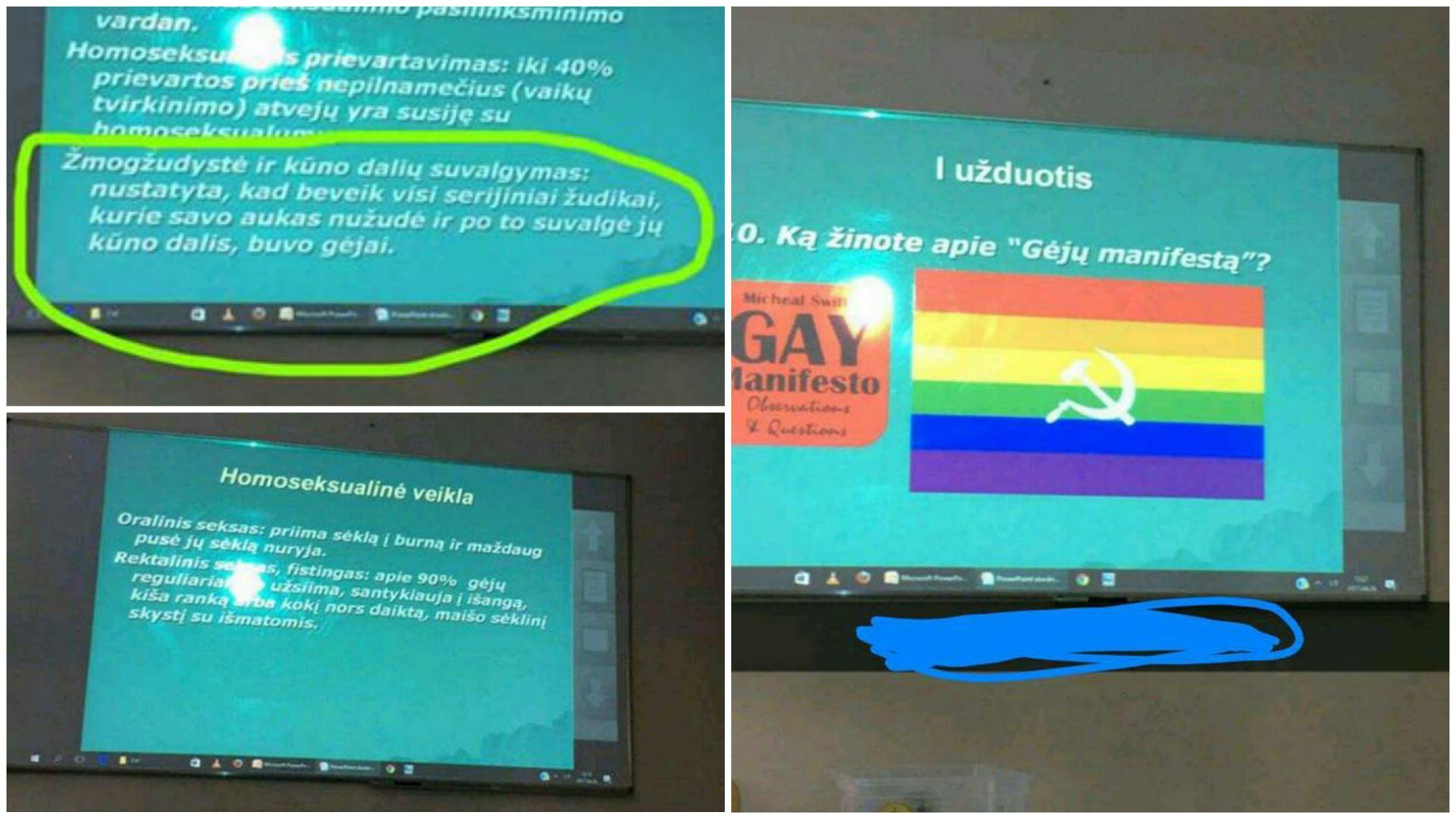 Mokiniams pateikta informacija apie homoseksualumą Telšių Žemaitės gimnazijoje, gimnazijos moksleivės nuotr.