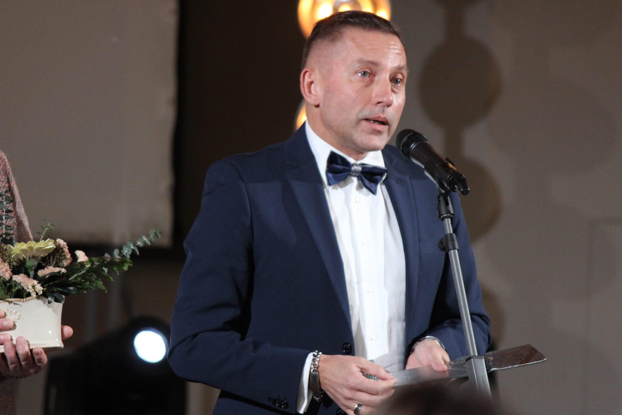 Vladimiras Simonko apdovanojimų ceremonijoje 2017 metais, NLĮF nuotr.