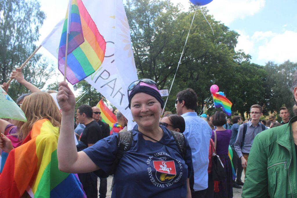 Neringa Dangyvė Baltic Pride 2019 m. metu, Danguolės Dilytės nuotr.