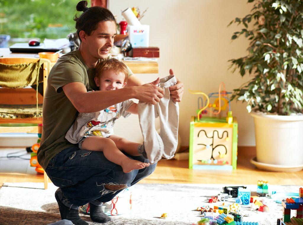 Tėtis Simonas ir Bernardas, daugiaubalanso.lt nuotr.