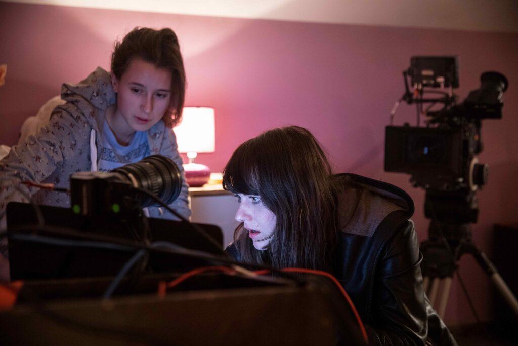 """Dokumentinio filmo """"Sugauti tinkle"""" filmavimo akimirka."""